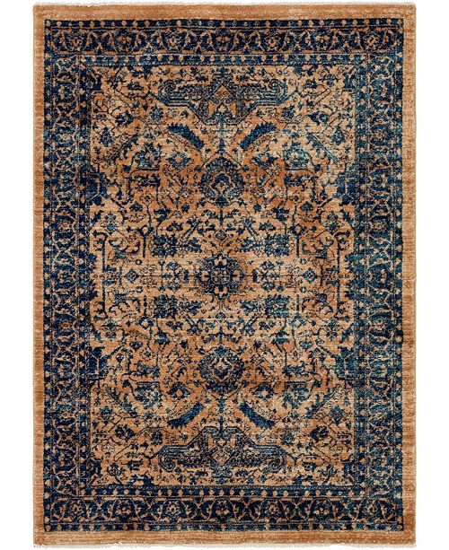 Bridgeport Home Thule Thu5 Navy Blue 4' x 6' Area Rug