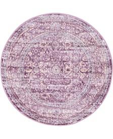 "Anika Ani2 Violet 3' 3"" x 3' 3"" Round Area Rug"