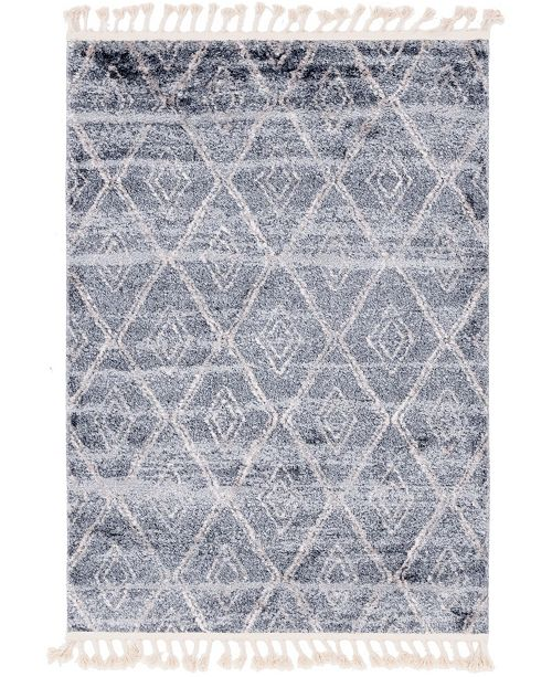 "Bridgeport Home Levia Lev2 Gray 4' 5"" x 6' 3"" Area Rug"