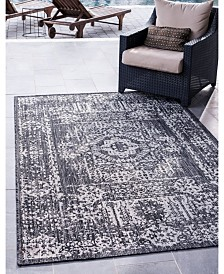 Bridgeport Home Pashio Pas8 Charcoal Gray 9' x 12' Area Rug