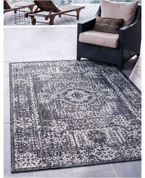 Bridgeport Home Pashio Pas8 Charcoal Gray 9' x 12' Area Rug