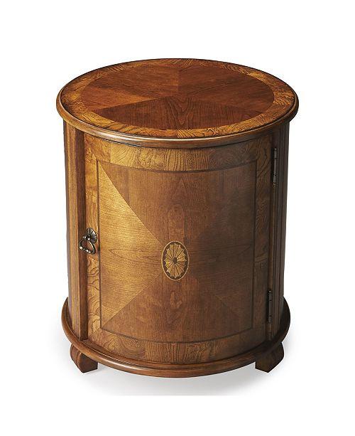 Butler Specialty Butler Lawrie Burl Drum Table