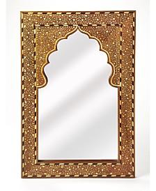 Butler Chevrier Wood and Bone Mirror