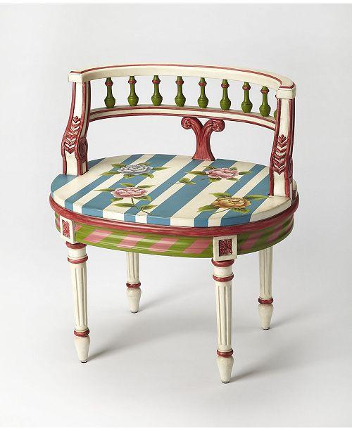 Butler Specialty Butler Hathwy Painted Vanity Seat