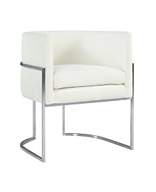 Giselle Dining Chair - Silver Frame