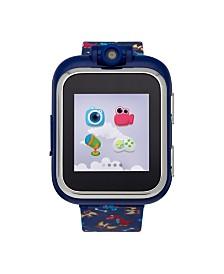 PlayZoom Kids Smartwatch with Dark Blue Dinosaur Printed Strap