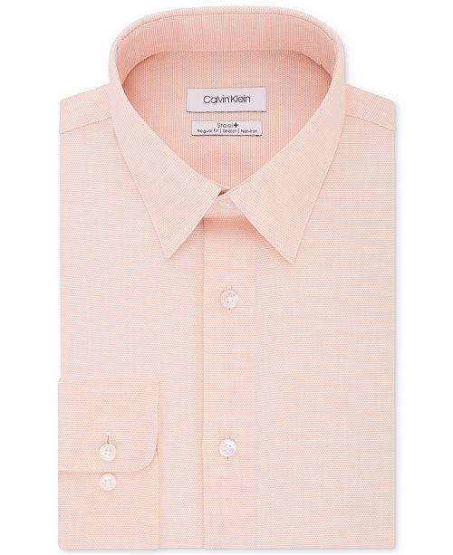 Calvin Klein Calvin Klein Men's STEEL Classic/Regular Non-Iron Stretch Performance Dress Shirt