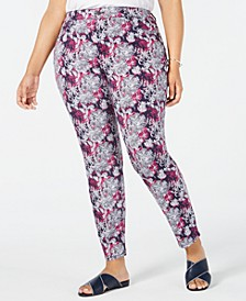 Plus Size Bristol Printed Skinny Jeans, Created for Macy's