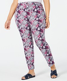 Charter Club Plus Size Bristol Printed Skinny Jeans, Created for Macy's