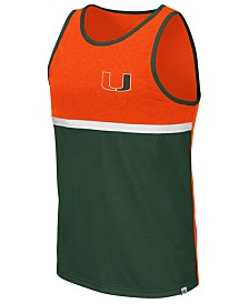 Colosseum Men's Miami Hurricanes Color Blocked Tank
