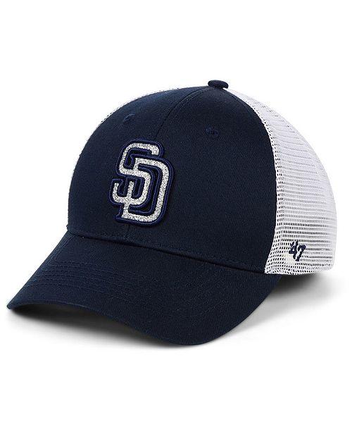 ea31b1cdc5f1ff ... Strapback Cap; '47 Brand Women's San Diego Padres Branson Glitta  Trucker Strapback ...