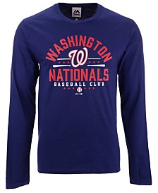 Majestic Men's Washington Nationals Iconic Local Long Sleeve T-Shirt