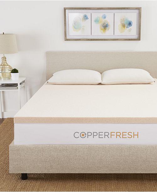 "CopperFresh  2"" Extra Support Gel Memory Foam Mattress Topper, Twin"