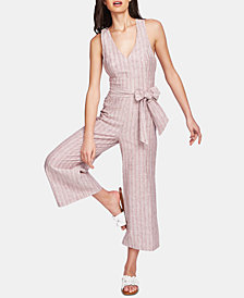 1.STATE Carousel Striped Belted Jumpsuit