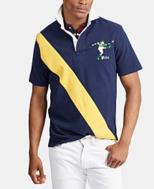 Men's Stripe Rugby Polo Shirt