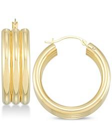Diamond Accent Triple Hoop Earrings, Created for Macy's