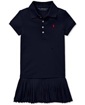 c5a11a742 Polo Ralph Lauren Toddler Girls Pleated Mesh Polo Dress. Quickview. 3 colors