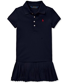 Polo Ralph Lauren Toddler Girls Pleated Mesh Polo Dress