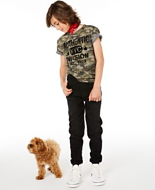 Epic Threads Big Boys Authentic 1973 Camouflage T-Shirt & Stretch Denim Joggers, Created for Macy's