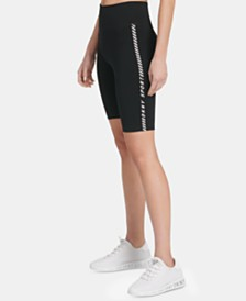 DKNY Sport High-Rise Logo Bike Shorts