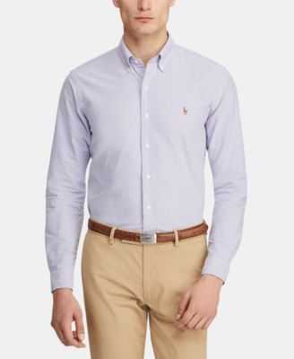 Men's Classic Fit Long Sleeve Solid Oxford Shirt
