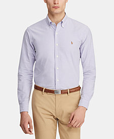 Polo Ralph Lauren Men's Classic Fit Long Sleeve Solid Oxford Shirt