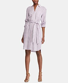 Lauren Ralph Lauren Striped Linen Shirtdress