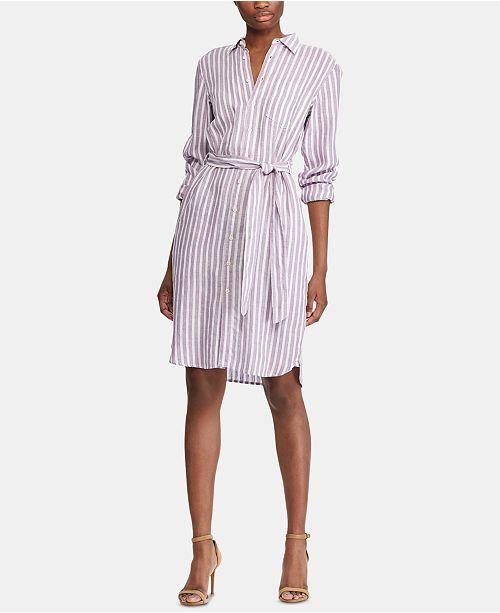 Lauren Ralph Lauren Striped Linen Shirtdress