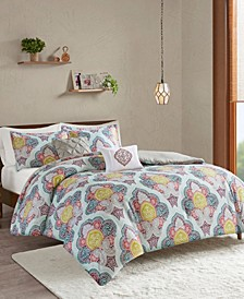 CLOSEOUT! Isadora 5-Pc. Paisley Medallion Print Comforter Sets