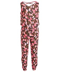 Little Girls Butterfly-Print Jumpsuit, Created for Macy's