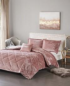 Felicia 4-Pc. Velvet Comforter Sets