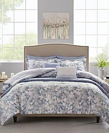 Erica King/California King 8 Piece Printed Seersucker Comforter and Coverlet Set