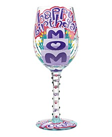 Lolita Mom Happy Birthday Glass