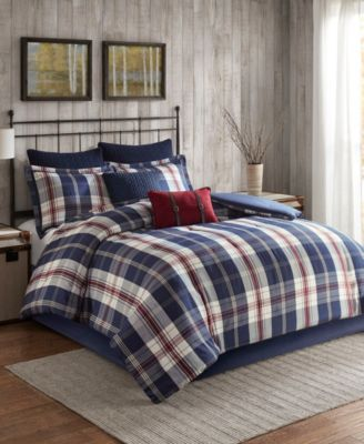 Ryland Twin/Twin XL 3 Piece Oversized Plaid Print Comforter Set