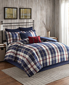 Woolrich Ryland 4-Pc. Oversized Plaid Print Comforter Sets