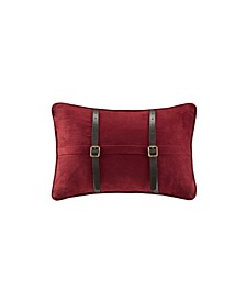 "Ryland 12"" x 18"" Micro Suede Oblong Pillow Red"