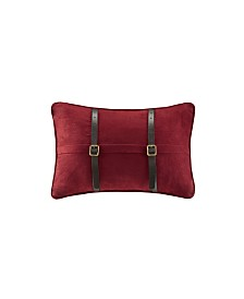 "Woolrich Ryland 12"" x 18"" Micro Suede Oblong Pillow Red"