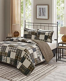 Timber 3-Pc. Reversible Printed Coverlet Sets