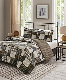 Madison Park Timber 3-Pc. Reversible Printed Coverlet Sets