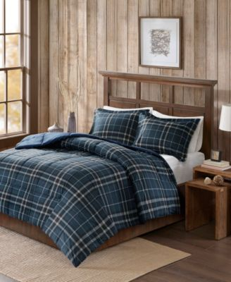 Flint Full/Queen 3 Piece CozySpun Down Alternative Comforter Mini Set