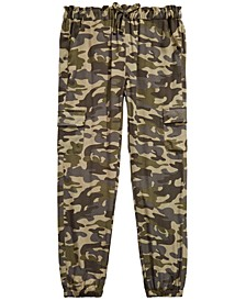 Big Girls Camo-Print Cargo Jogger Pants, Created for Macy's