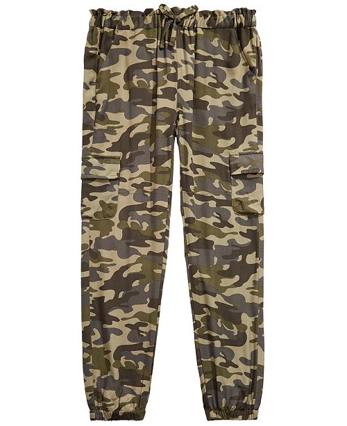 Epic Threads Big Girls Camo-Print Cargo Jogger Pants, Created for Macy's