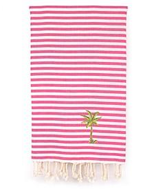 Fun in the Sun Breezy Palm Tree Pestemal Beach Towel