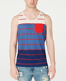 American Rag Men's Colorblocked Striped Tank, Created for Macy's