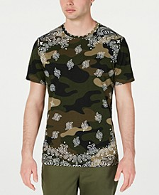 Men's Paisley Camo T-Shirt, Created for Macy's