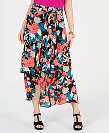 Printed Wrapped Ruffle Skirt, Created for Macy's