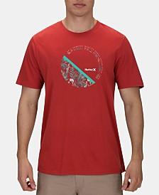 Hurley Men's Round Up Logo Graphic T-Shirt