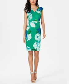 Calvin Klein Floral-Print Sheath Dress
