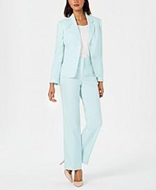 Textured Two-Button Pantsuit
