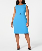 6b2d3a12 Kasper Plus Size Belted Sheath Dress